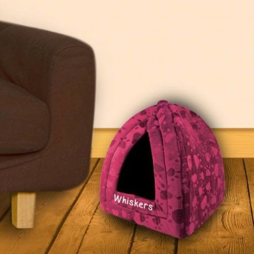 Maroon Pyramid Pet Bed